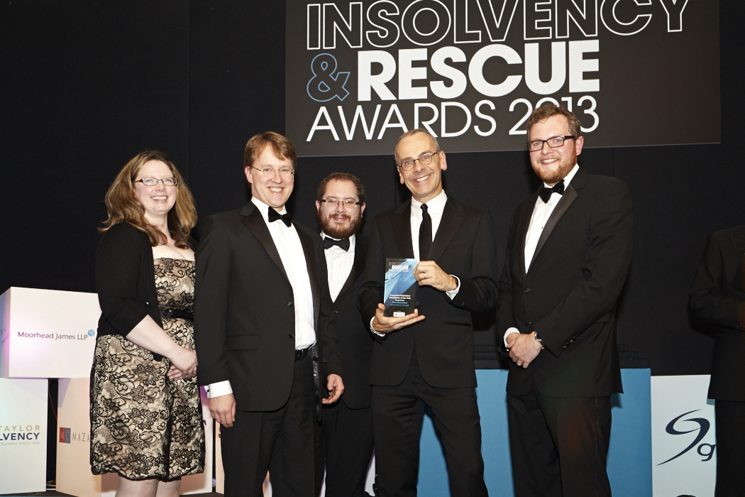 Paul Moorhead at the Insolvency and Rescue Awards 2013