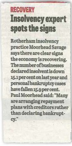 Insolvency Expert Spots the Signs